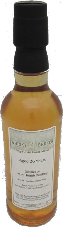 35cl, 26yo Distilled at North British