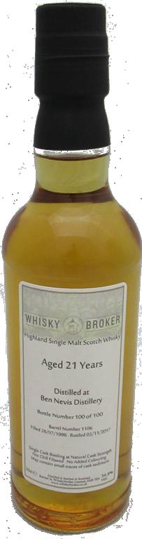 35cl, 21yo Distilled at Ben Nevis