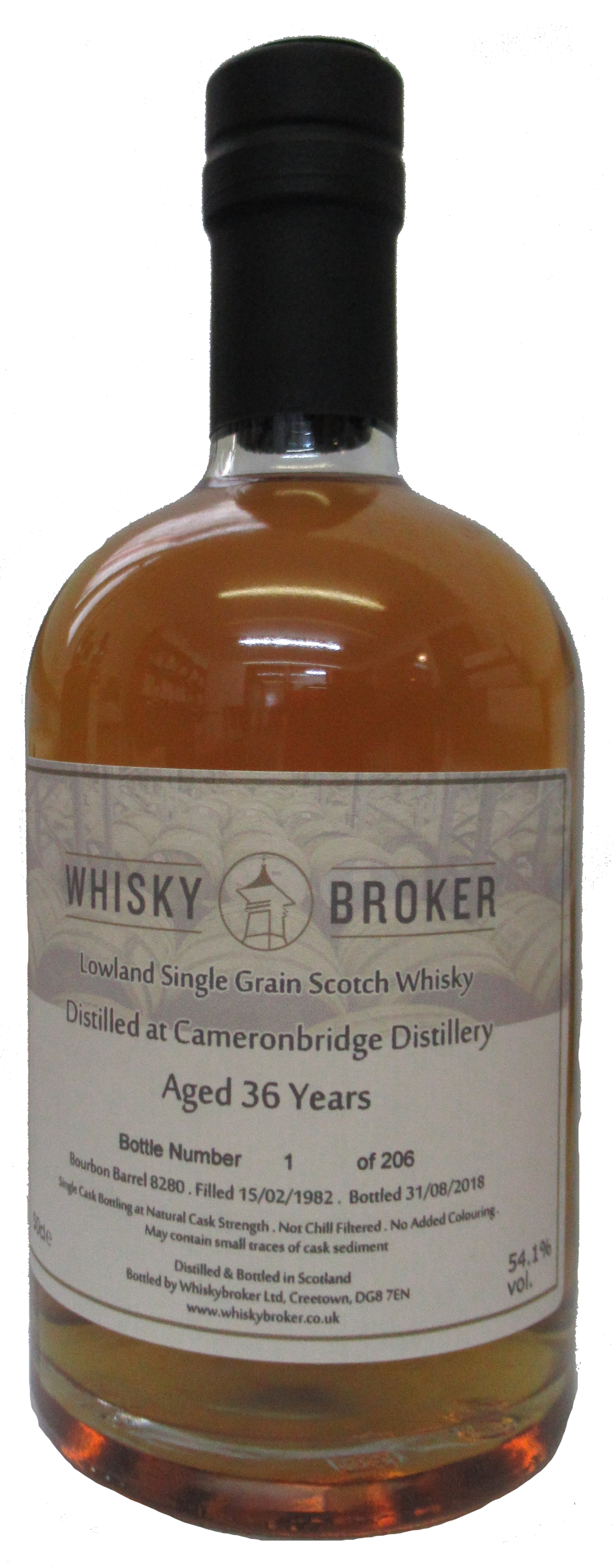 50cl, 36yo Distilled at Cameronbridge Distillery