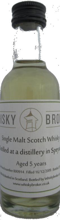 5cl, 5yo distilled at a Speyside Distillery