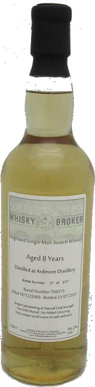 70cl,7yo Distilled at Ardmore
