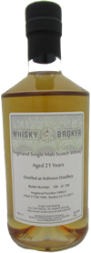 70cl, 21yo Distilled at Ardmore