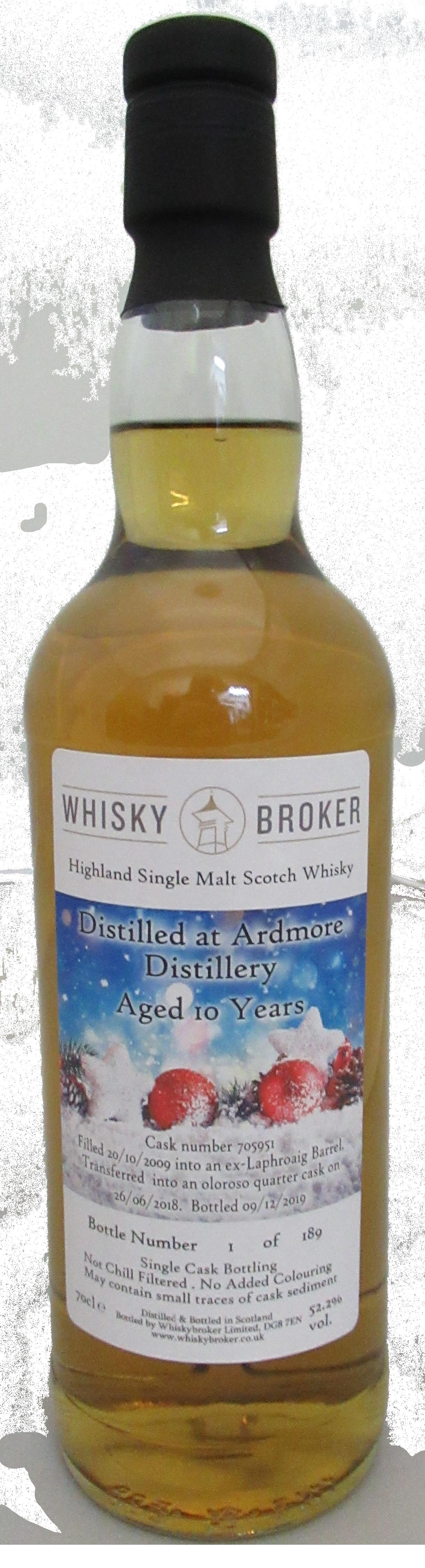 70cl, 10yo Distilled at Ardmore Distillery