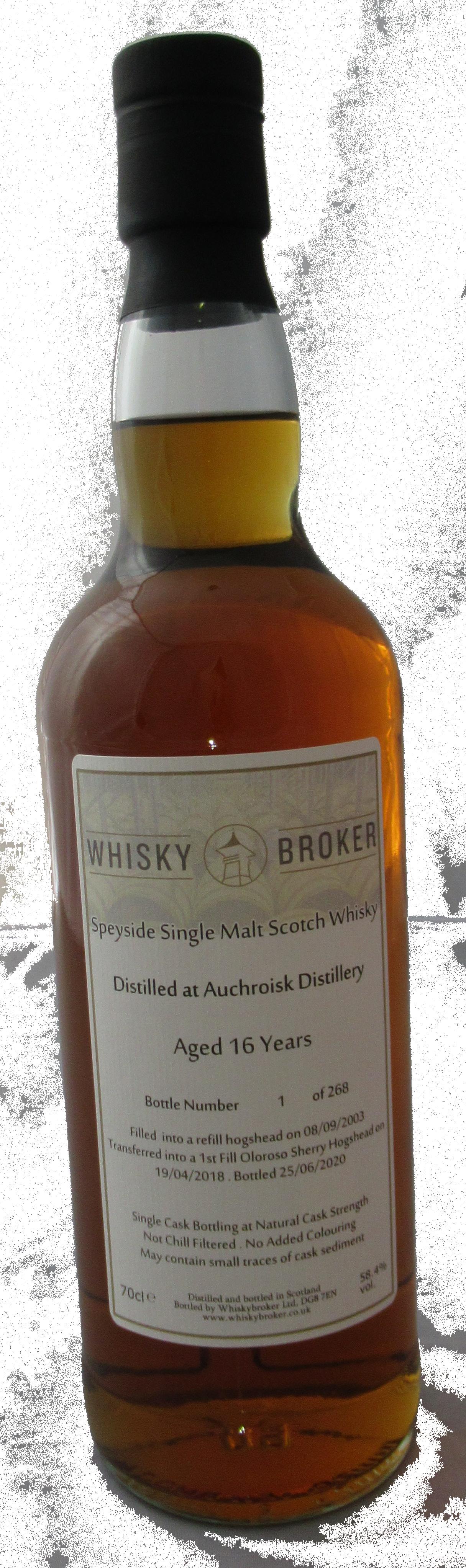 70cl, 16yo Distilled at Auchroisk Distillery