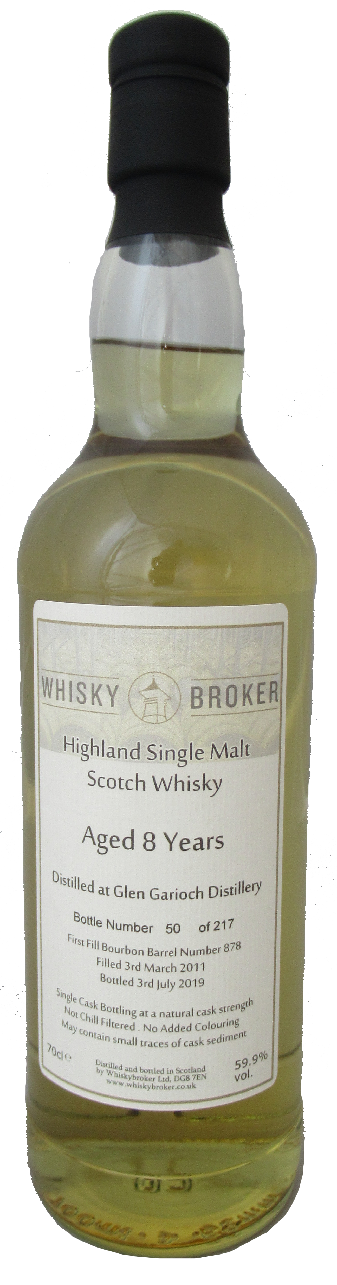 70cl, 8yo Distilled at Glen Garioch Distillery