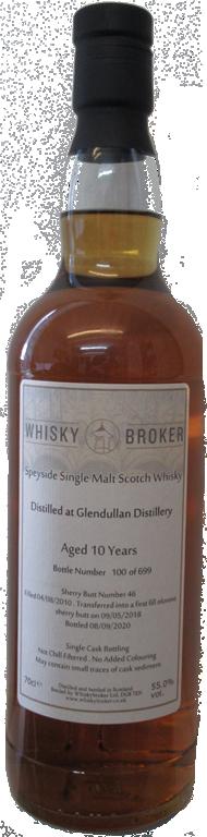 70cl, 10yo distilled at Glendullan Distillery
