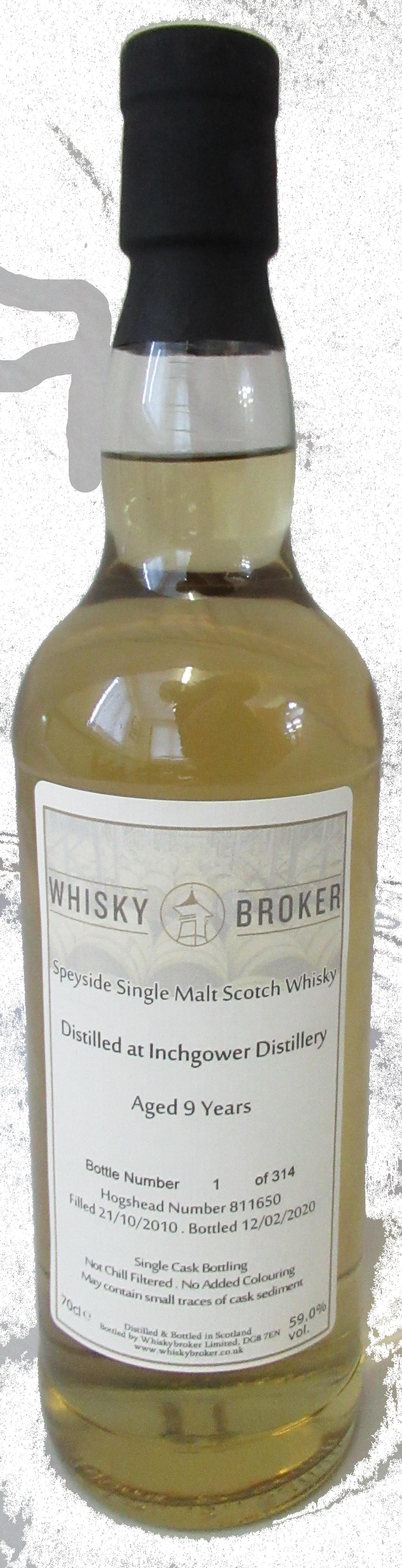 70cl, 9yo Distilled at Inchgower Distillery