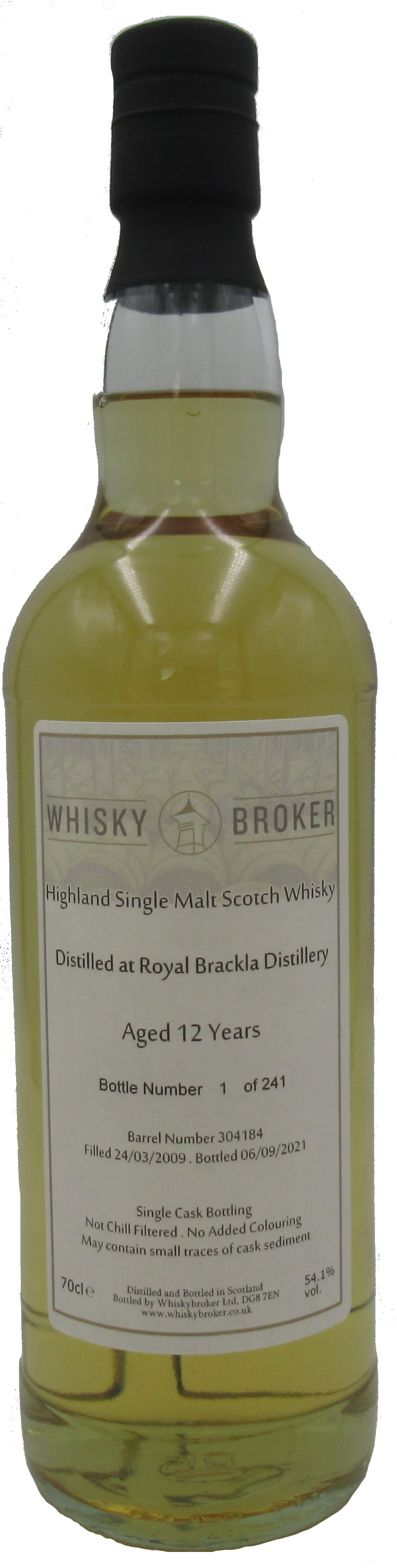 70cl, 12yo Distilled at Royal Brackla Distillery