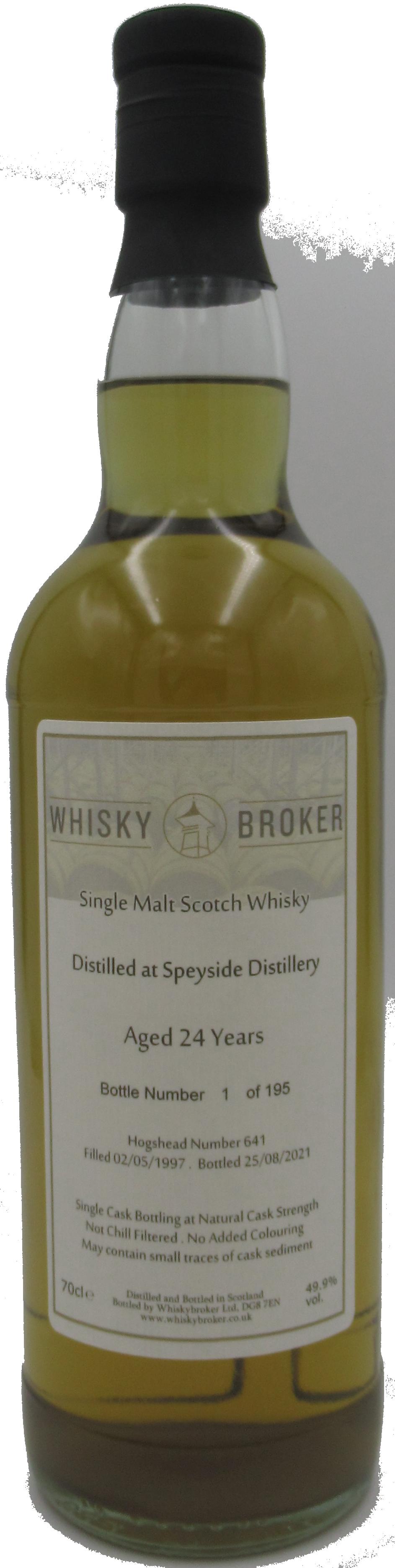 70cl, 24yo Distilled at Speyside Distillery