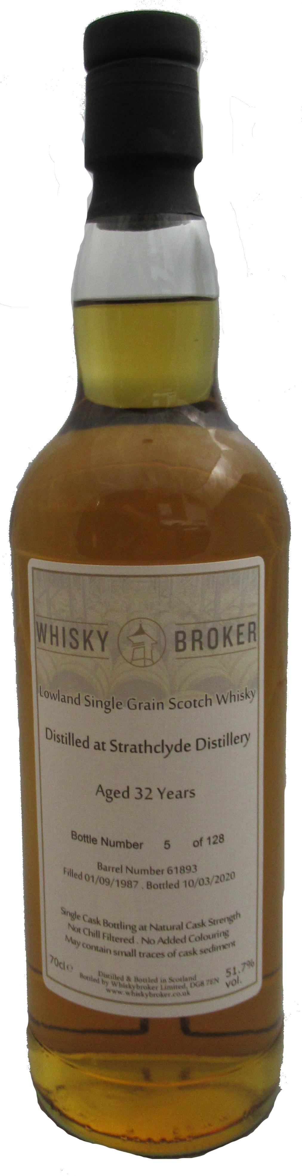 70cl, 32yo Distilled at Strathclyde Distillery