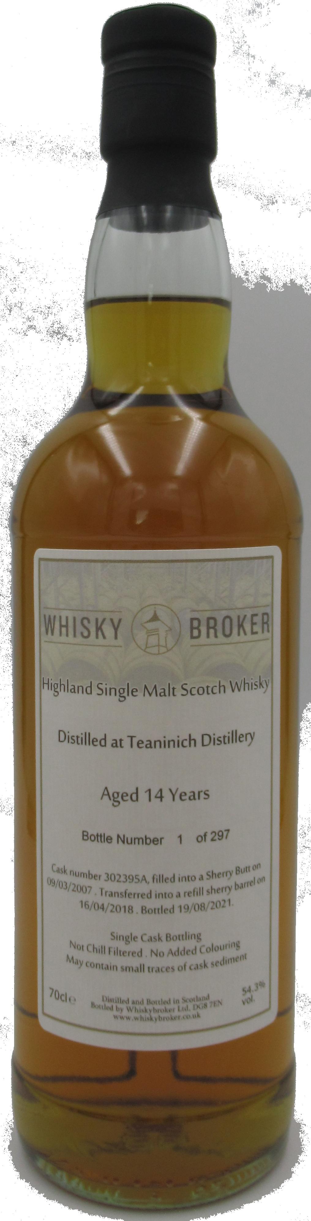 70cl, 14yo Distilled at Teaninich Distillery