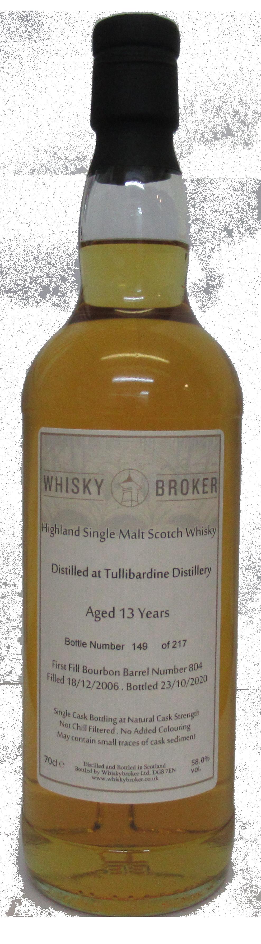 70cl, 13yo Distilled at Tullibardine Distillery