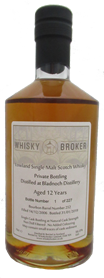 70cl, 12yo Distilled at Bladnoch Distillery