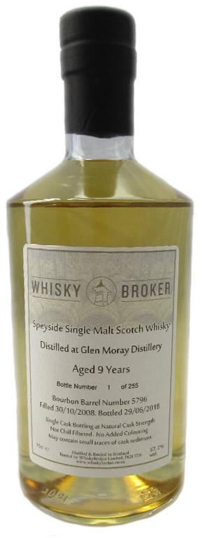 70cl, 9yo Distilled at Glen Moray Distillery