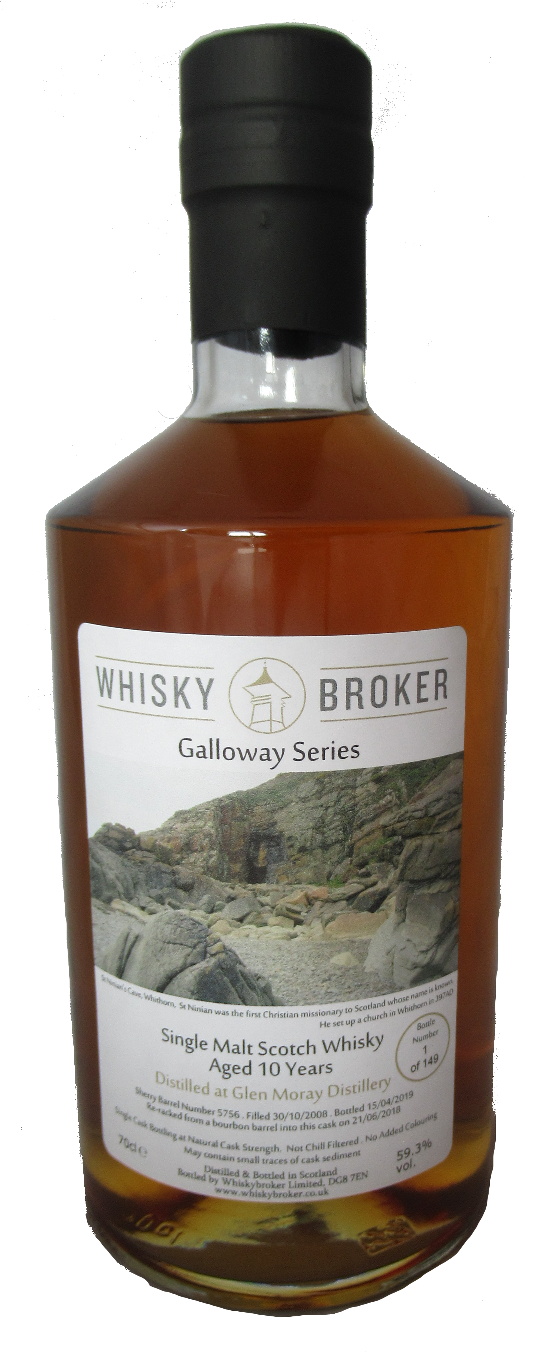 70cl, 10yo Distilled at Glen Moray Distillery