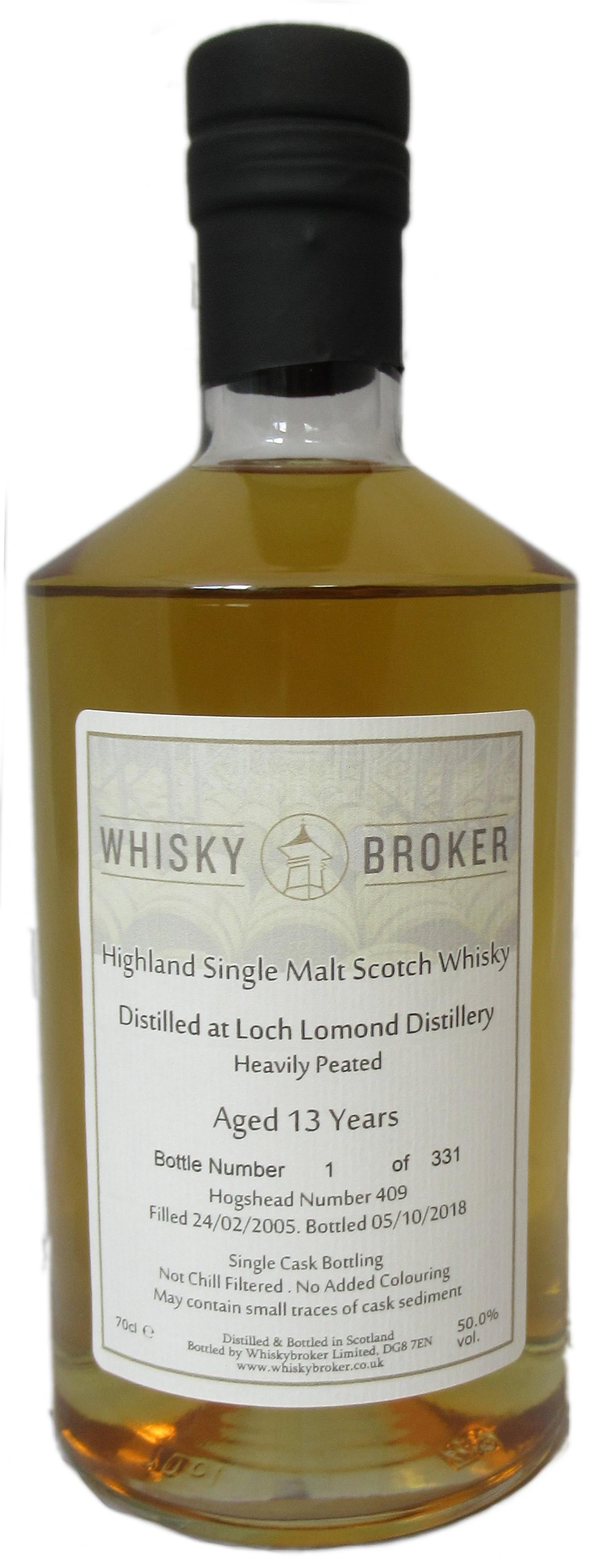 70cl, 13yo Distilled at Loch Lomond Distillery