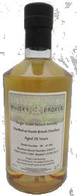 70cl, 26yo Distilled at North British Distillery