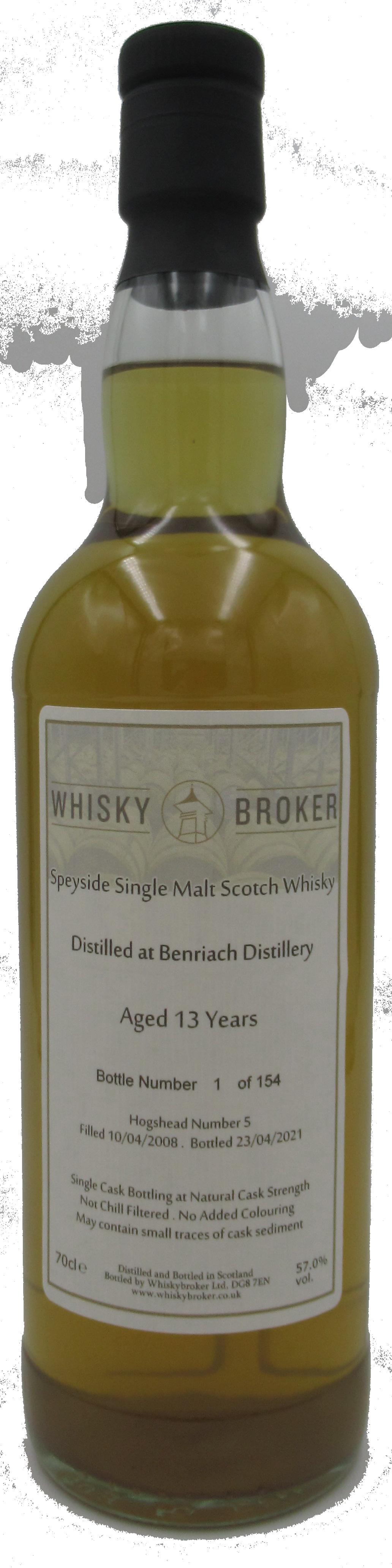 70cl, 13yo Distilled at Benriach Distillery