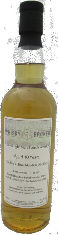 70cl, 10yo Distilled at Bruichladdich Distillery