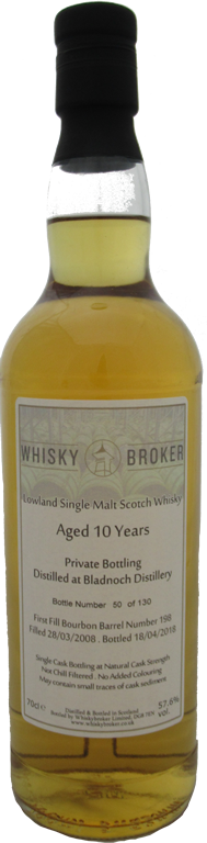 70cl, 10yo Distilled at Bladnoch Distillery