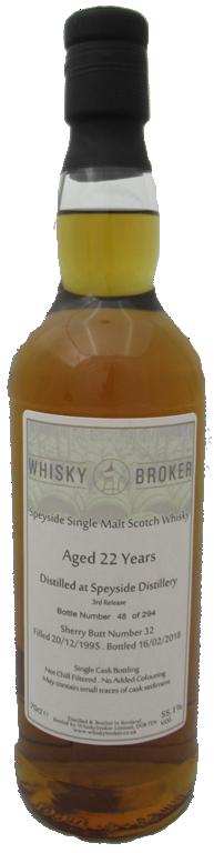 70cl,22yo Distilled at Speyside Distillery
